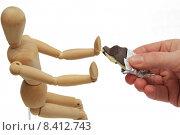 Купить «human hand offer refuse refusal», фото № 8412743, снято 21 марта 2019 г. (c) PantherMedia / Фотобанк Лори