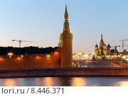 Купить «Вечерняя Москва, центр города, Кремль», фото № 8446371, снято 26 июля 2015 г. (c) Владимир Журавлев / Фотобанк Лори
