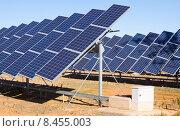 Купить «electric solar panels», фото № 8455003, снято 8 декабря 2014 г. (c) Яков Филимонов / Фотобанк Лори