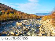 Купить «Swift River at autumn», фото № 8460855, снято 20 октября 2014 г. (c) Николай Охитин / Фотобанк Лори