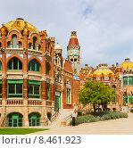 Купить «Hospital de la Santa Creu i Sant Pau in Barcelona», фото № 8461923, снято 27 февраля 2020 г. (c) Яков Филимонов / Фотобанк Лори