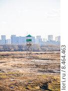 Купить «Наблюдательная вышка на территории бывшего Тушинского аэродрома», эксклюзивное фото № 8464463, снято 10 апреля 2015 г. (c) Алёшина Оксана / Фотобанк Лори