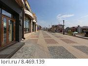 Купить «Мощеная улица исторического 130-го квартала, Иркутск», эксклюзивное фото № 8469139, снято 5 июля 2015 г. (c) Алексей Гусев / Фотобанк Лори