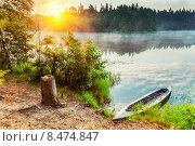 Купить «Canoe on a lake», фото № 8474847, снято 14 декабря 2019 г. (c) Sergey Borisov / Фотобанк Лори