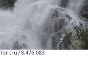 Алибекский водопад на Домбае в горах Северного Кавказа. Стоковое видео, видеограф Алексей Бок / Фотобанк Лори