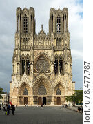 Купить «Reims, France, Notre Dame Cathedral of Reims in the city center», фото № 8477787, снято 12 сентября 2013 г. (c) Caro Photoagency / Фотобанк Лори