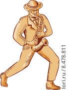 Купить «Саксофонист», иллюстрация № 8478811 (c) Aloysius Patrimonio / Фотобанк Лори