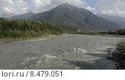 Река Теберда в горах Северного Кавказа. Стоковое видео, видеограф Алексей Бок / Фотобанк Лори