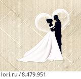 Свадьба. Молодожены. Стоковая иллюстрация, иллюстратор Мярц Алиса / Фотобанк Лори