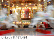Купить «Старинная карусель», фото № 8481491, снято 5 августа 2015 г. (c) Эдуард Цветков / Фотобанк Лори