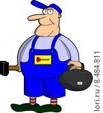 Купить «man cap pocket hammer craftsman», иллюстрация № 8484811 (c) PantherMedia / Фотобанк Лори
