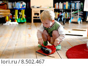 Купить «young child room clean furbish», фото № 8502467, снято 29 января 2020 г. (c) PantherMedia / Фотобанк Лори