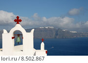Купить «bell greece chapel caldera thira», фото № 8502867, снято 16 июня 2019 г. (c) PantherMedia / Фотобанк Лори