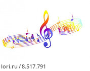 Купить «notes music notenlinien notenschluessel treble», фото № 8517791, снято 26 июня 2019 г. (c) PantherMedia / Фотобанк Лори