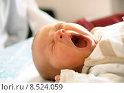 Купить «baby newborn bedtime neonate yawn», фото № 8524059, снято 24 марта 2019 г. (c) PantherMedia / Фотобанк Лори