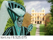 Купить «woman mask fair favorite barockschloss», фото № 8525075, снято 21 августа 2019 г. (c) PantherMedia / Фотобанк Лори