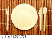 Купить «Bamboo Tableware», фото № 8534731, снято 22 апреля 2018 г. (c) PantherMedia / Фотобанк Лори