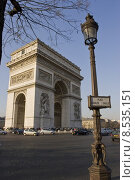Купить «paris triumphal arch travel holiday», фото № 8535151, снято 19 июня 2019 г. (c) PantherMedia / Фотобанк Лори
