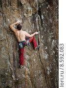 Купить «Male Rock Climber», фото № 8592083, снято 6 августа 2019 г. (c) PantherMedia / Фотобанк Лори
