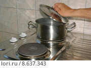 Купить «cuisine cooking kitchen steel heat», фото № 8637343, снято 27 мая 2019 г. (c) PantherMedia / Фотобанк Лори