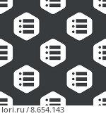 Black hexagon dotted list pattern. Стоковая иллюстрация, иллюстратор Иван Рябоконь / Фотобанк Лори