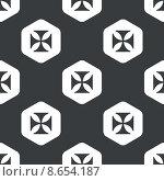 Купить «Black hexagon maltese cross pattern», иллюстрация № 8654187 (c) Иван Рябоконь / Фотобанк Лори