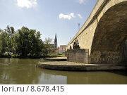 Купить «cathedral danube ratisbon stadttor steinernebr», фото № 8678415, снято 25 мая 2019 г. (c) PantherMedia / Фотобанк Лори