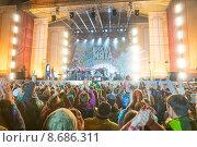 Мгзавреби на фестивале Дикая Мята (2015 год). Редакционное фото, фотограф Павел Лиховицкий / Фотобанк Лори