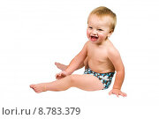 Купить «Cute Baby Boy Isolated Wearing Cloth Diaper », фото № 8783379, снято 17 июля 2019 г. (c) PantherMedia / Фотобанк Лори