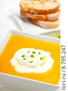 Купить «bread slice soup pumpkin baguette», фото № 8795247, снято 23 января 2018 г. (c) PantherMedia / Фотобанк Лори