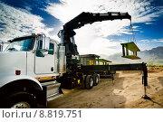 Купить «Truck Crane Trench Shoring », фото № 8819751, снято 17 декабря 2017 г. (c) PantherMedia / Фотобанк Лори