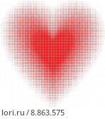 Купить «Halftone heart», иллюстрация № 8863575 (c) PantherMedia / Фотобанк Лори
