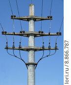 Купить «mast traverse betonmast current endmast», фото № 8866787, снято 23 мая 2019 г. (c) PantherMedia / Фотобанк Лори