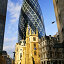 Купить «Gherkin building and church of St. Andrew Undershaft in London», фото № 8891575, снято 21 января 2020 г. (c) PantherMedia / Фотобанк Лори