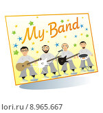 Купить «band poster», фото № 8965667, снято 21 июля 2019 г. (c) PantherMedia / Фотобанк Лори