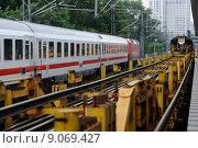 Купить «Berlin, Germany, track work between Friedrichstrasse and Zoologischer Garten», фото № 9069427, снято 25 июля 2014 г. (c) Caro Photoagency / Фотобанк Лори