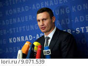 Купить «Berlin, Germany, Vitali Klitschko, UDAR, Mayor of Kiev», фото № 9071539, снято 12 сентября 2014 г. (c) Caro Photoagency / Фотобанк Лори