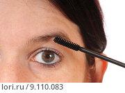 Купить «woman eyes mascara eyelash female», фото № 9110083, снято 16 июля 2019 г. (c) PantherMedia / Фотобанк Лори