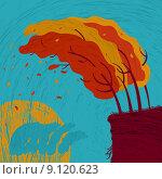 Купить «Осенний ветер гнет деревья», иллюстрация № 9120623 (c) Евгений Бакал / Фотобанк Лори