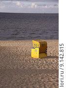 Купить «blue yellow beach basket seaside», фото № 9142815, снято 17 октября 2018 г. (c) PantherMedia / Фотобанк Лори