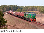Купить «Freight fuel train», фото № 9144335, снято 24 января 2019 г. (c) PantherMedia / Фотобанк Лори