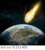 Купить «Asteroid and Earth apocalypse», фото № 9213455, снято 18 января 2019 г. (c) PantherMedia / Фотобанк Лори