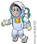 Купить «Cartoon astronaut», иллюстрация № 9254727 (c) PantherMedia / Фотобанк Лори