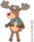 Купить «Cute standing Christmas elk», иллюстрация № 9264135 (c) PantherMedia / Фотобанк Лори