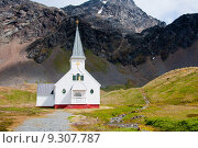 Купить «Historic Church at the former Antarctic whaling station of Grytviken.», фото № 9307787, снято 18 января 2019 г. (c) PantherMedia / Фотобанк Лори