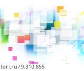 Купить «Abstract square shpae background», фото № 9310855, снято 22 июня 2018 г. (c) PantherMedia / Фотобанк Лори