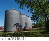 Large Grain Silos Beside a Pecan Grove. Стоковое фото, фотограф Linda Johnsonbaugh / PantherMedia / Фотобанк Лори