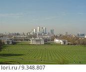 Купить «Dockland von Greenwich gesehen», фото № 9348807, снято 17 ноября 2018 г. (c) PantherMedia / Фотобанк Лори