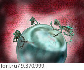 Купить «Illustration of nanobots working together as a team», иллюстрация № 9370999 (c) PantherMedia / Фотобанк Лори