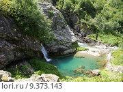 Купить «Водопад ручья Санчаро, КЧР», фото № 9373143, снято 13 июня 2015 г. (c) Оглоблин Андрей Николаевич / Фотобанк Лори